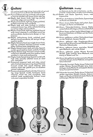 Hofner catalogue 1931